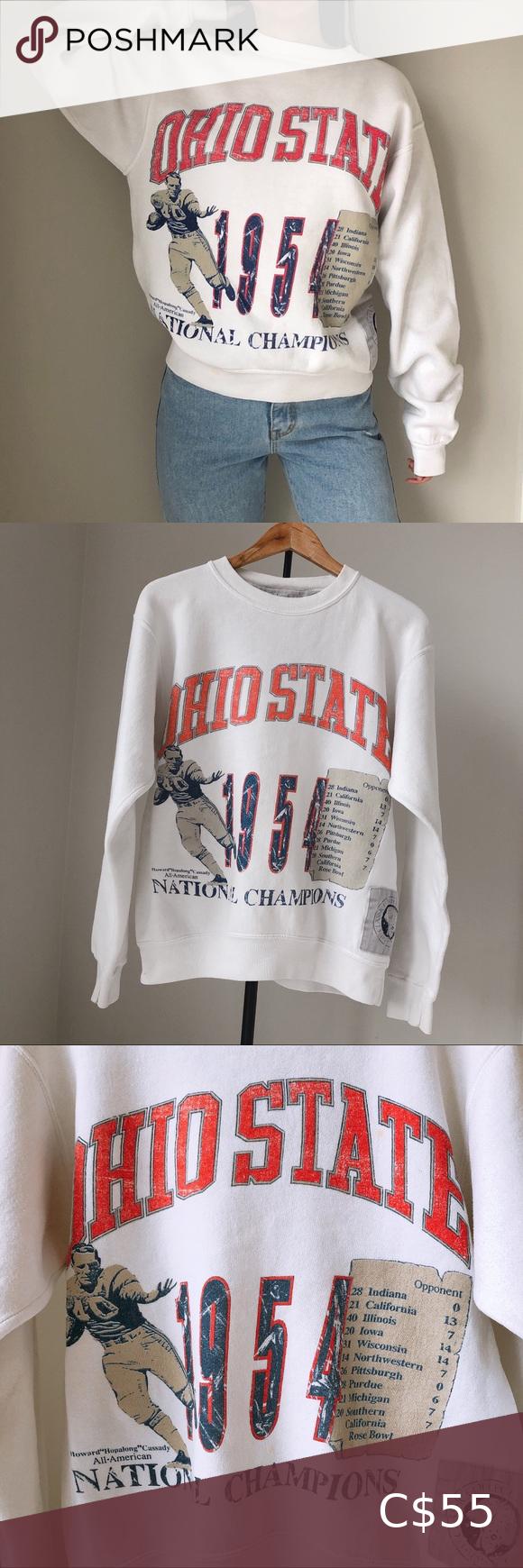 Vintage Ohio State University Champion Sweatshirt Champion Sweatshirt Sweatshirts Crop Pullover Hoodie [ 1740 x 580 Pixel ]