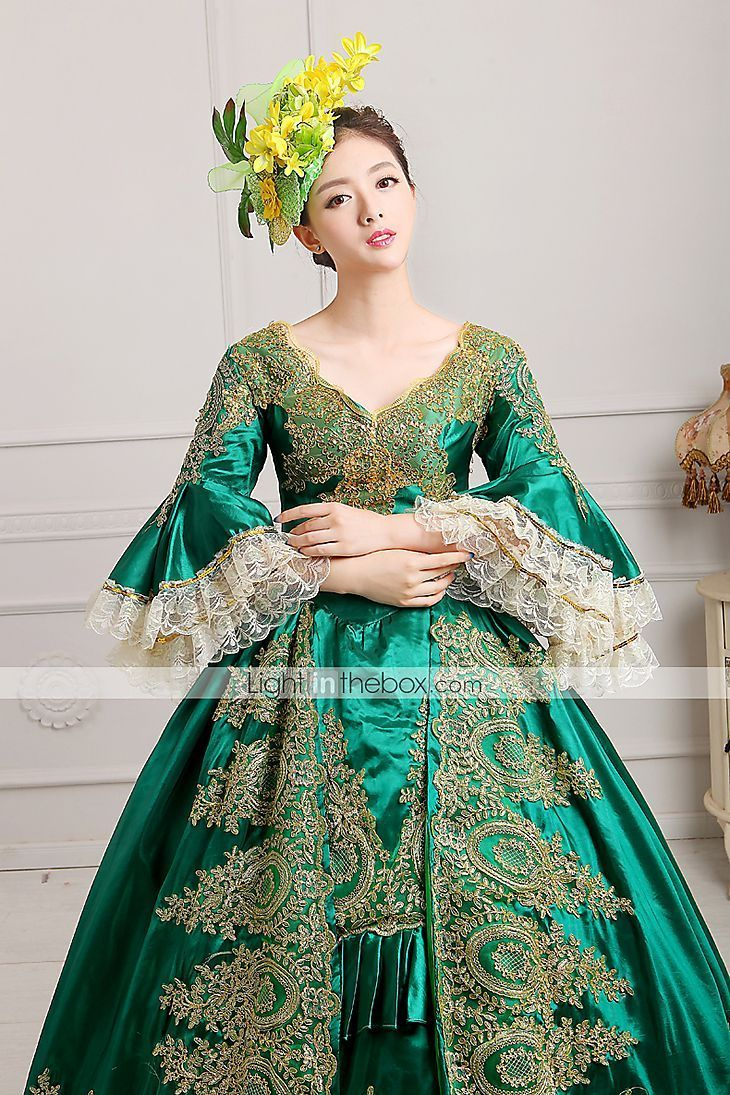 Marie Antoinette Rococo 18th Century Costume Women's Dress Party Costume Masquerade Ball Gown Green Vintage Cosplay Lace Satin Party Prom Poet Sleeve Floor Length Ball Gown Plus Size Customized 4328355 2019 – $89.99 #masqueradeballgowns Marie Antoinette Rococo 18th Century Costume Women's Dress Party Costume Masquerade Ball Gown Green Vintage Cosplay Lace Satin Party Prom Poet Sleeve Floor Length Ball Gown Plus Size Customized 4328355 2019 – $89.99 #masqueradeballgowns Marie Antoinette Rococ #masqueradeballgowns