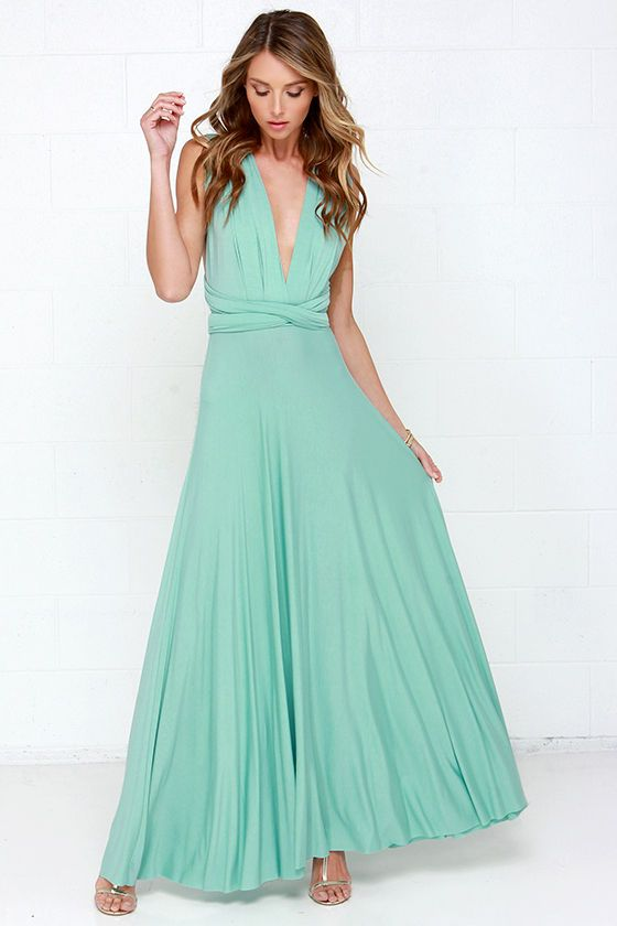 Tricks of the Trade Mint Green Maxi Dress at Lulus.com!