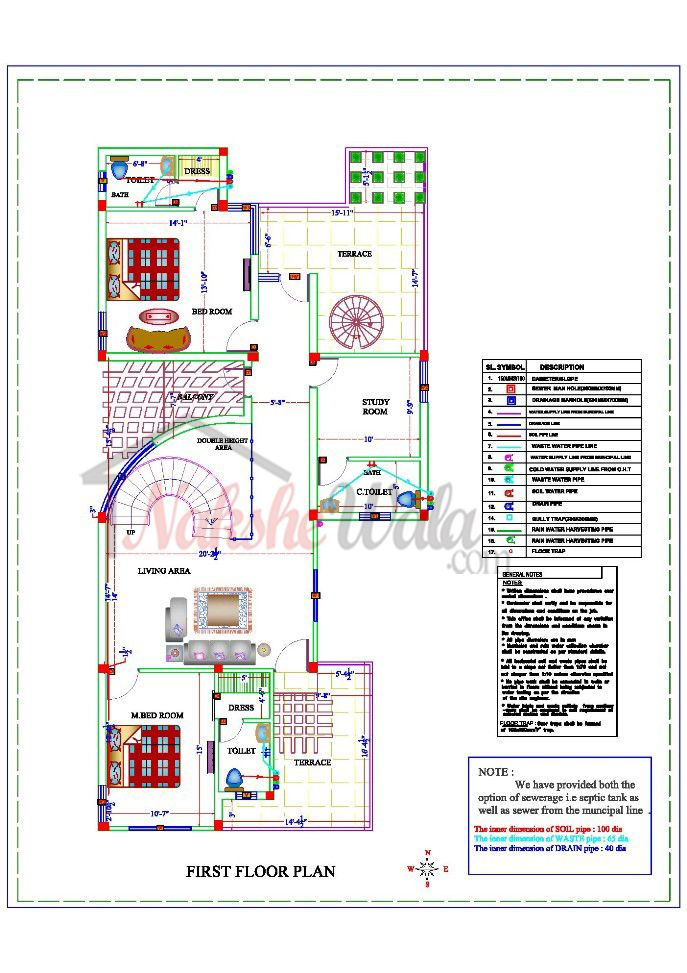 Sample House Plans, Sample Architectural Drawings, Sample House ...