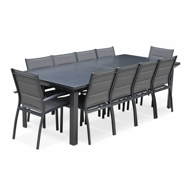 Salon De Jardin Table Extensible Odenton Anthracite Grande Table
