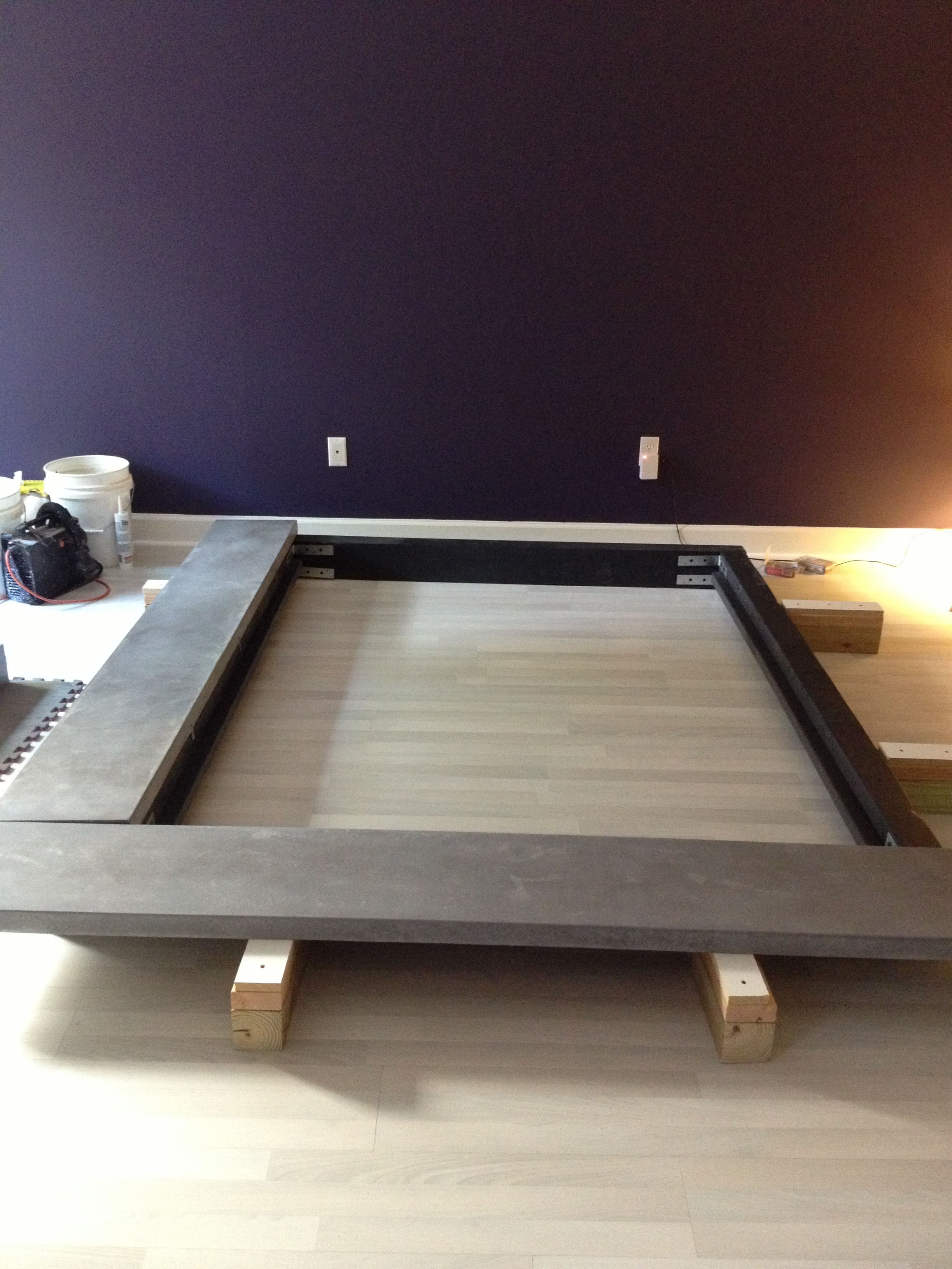 Homemade Bed Installing Concrete Frame Diy Homemade Beds