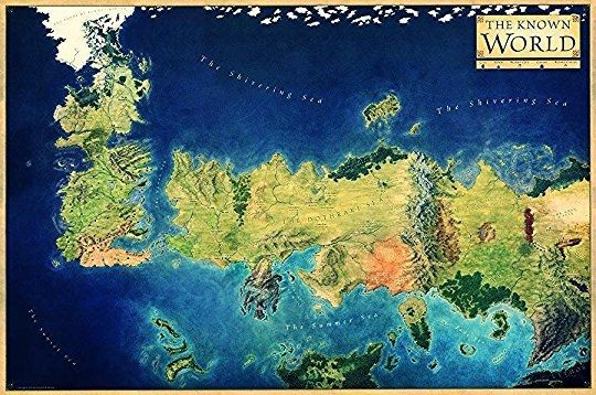 World Of A Song Of Ice And Fire Map The World Of Ice Fire The Untold