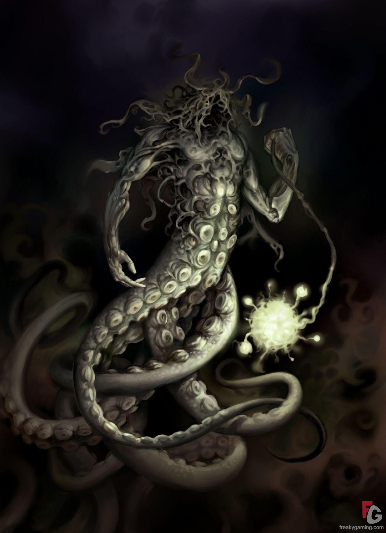 Octopus Art Elveon Monster Freakygaming Love