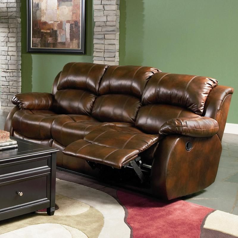 Best C600471 Morrell Casual Brown Bonded Leather Reclining Sofa 400 x 300