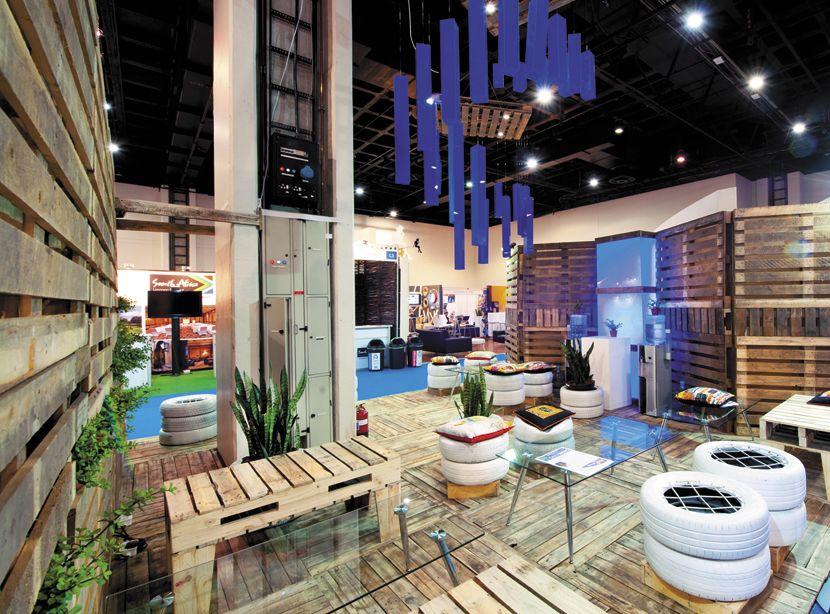 Fancy Footwork Trade show flooring, Patio, Open air