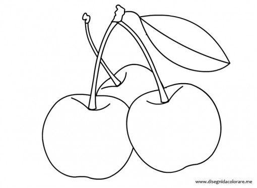 Disegno ciliegie disegni nel 2019 disegni disegni da for Disegni da colorare ciliegie