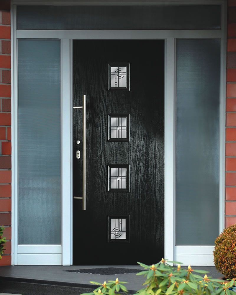 Front doors for homes for Black wooden front door
