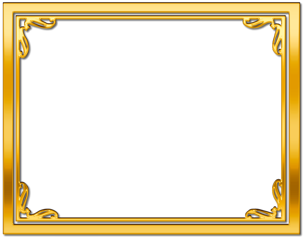 gold frame border free clipart - Google Search | Life ...