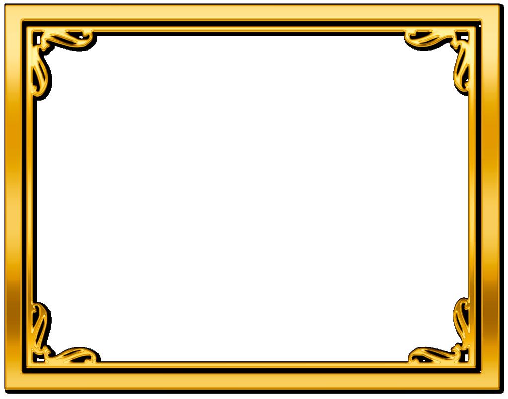 gold frame border free