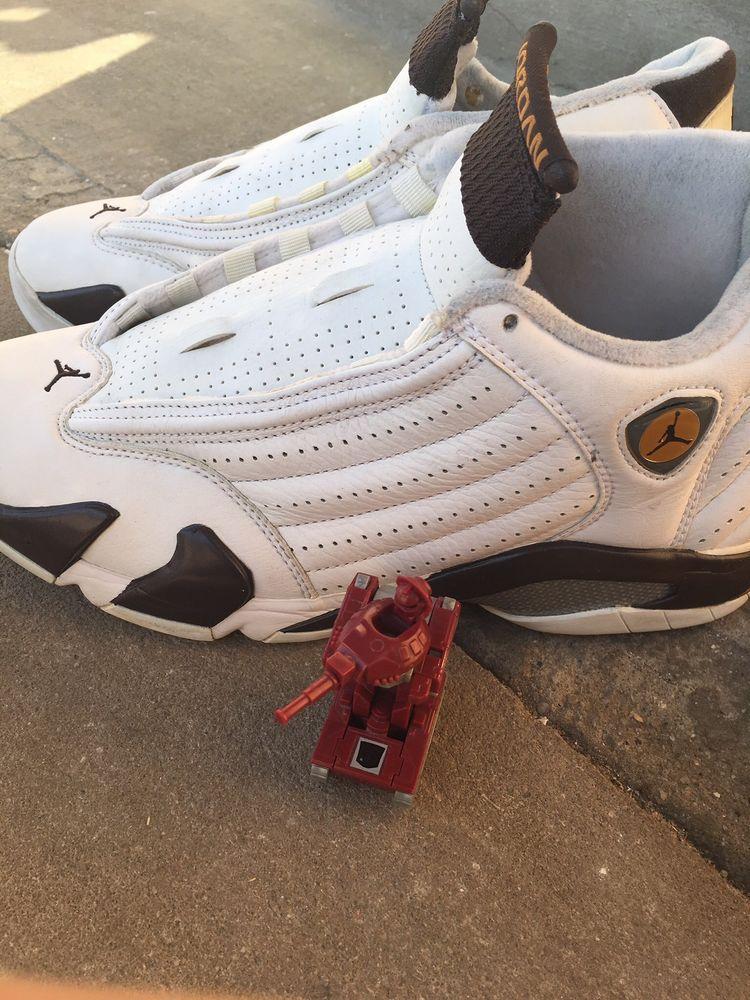 sale retailer 9b8dd 60252 OG Nike Air Jordan XIV 14 Retro LS White Dark Cinder Chutney Size 9 311832  121