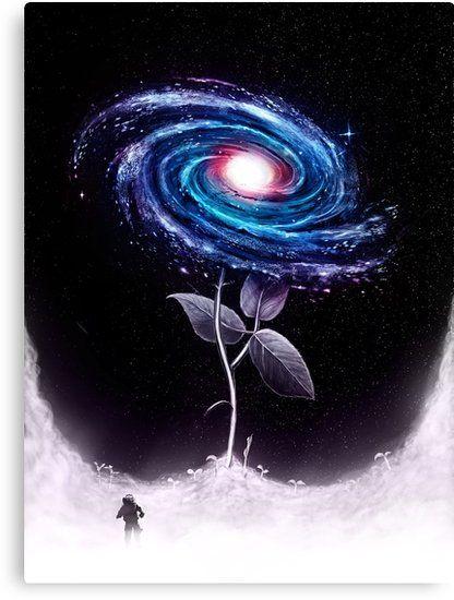 My Little Flower Canvas Print by nicebleed