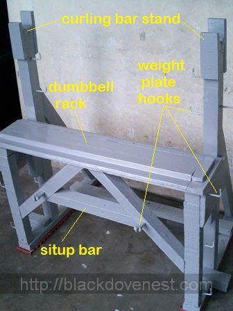 dumbbell rack homemade gym equipment