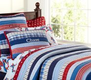Patchwork Stripes Quilted Bedding