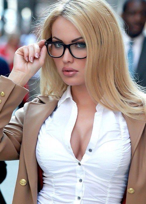 Hot Secretary With Glasses
