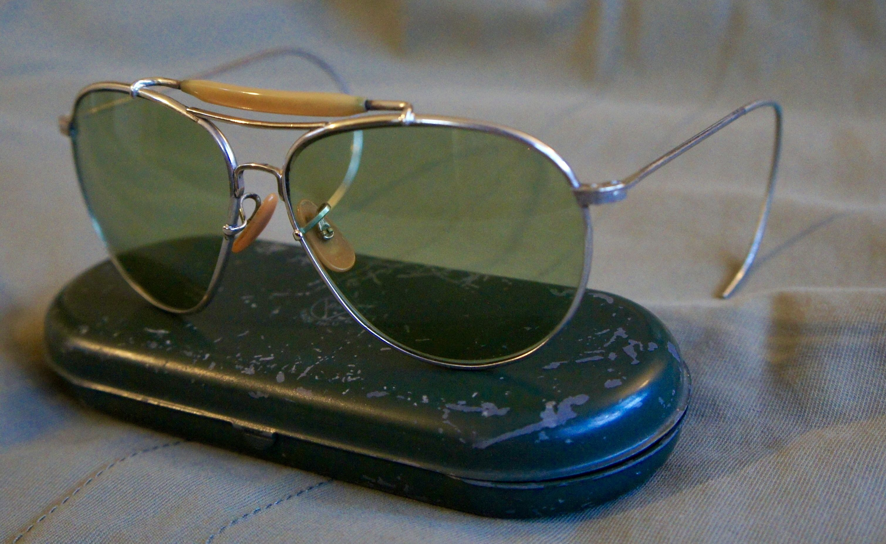 a704312493b5f WW2 Bausch and Lomb AN-6531 aviator sunglasses. Example taken from the bay  member Schutzenfest 42 collection.