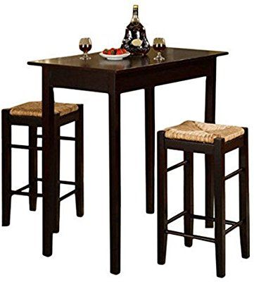 Amazon Com 3 Piece Dinette Set Kitchen Pub Dining Table And