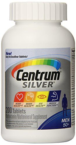 Centrum Silver Multivitamin Supplement Men 50 200 Count Best Multivitamin For Men Multivitamin Best Multivitamin