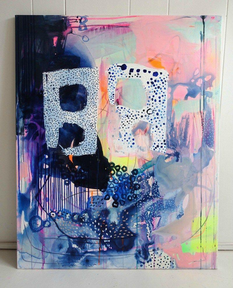 maleri abstrakt i moderne stil | studio | Pinterest | Paintings ...