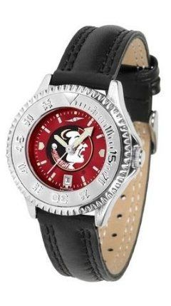 Leather Suntime Fsu Florida Ladies By Seminoles State Wristwatch v0Nnwm8O