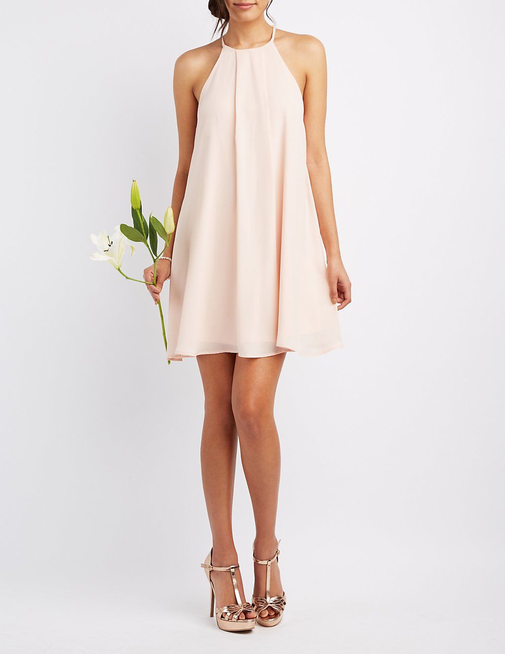 Bib Neck Shift Dress in Fashion Pinterest Dresses