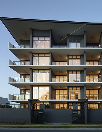 Atria at Hamilton Reach, Apartment design, Townhouse design, multi residential, brisbane architecture, brisbane architect, designer townhouse, designer town home, designer apartments, modern architecture