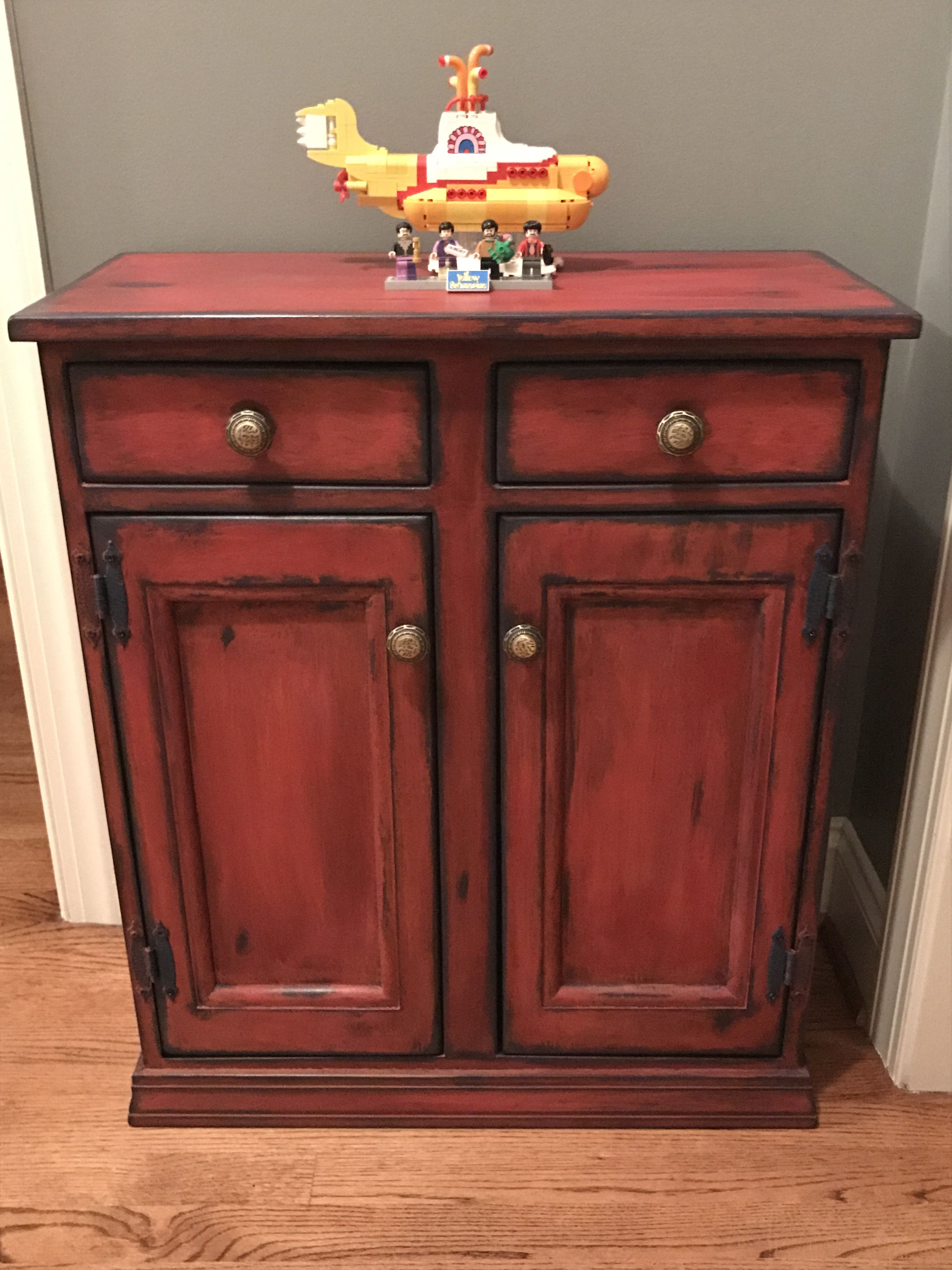 Cabinet Refinished With Annie Sloan Chalk Paint Napoleonic