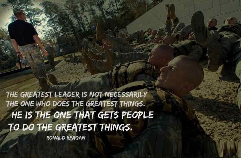 The greatest leader is not necessarily; the one who does