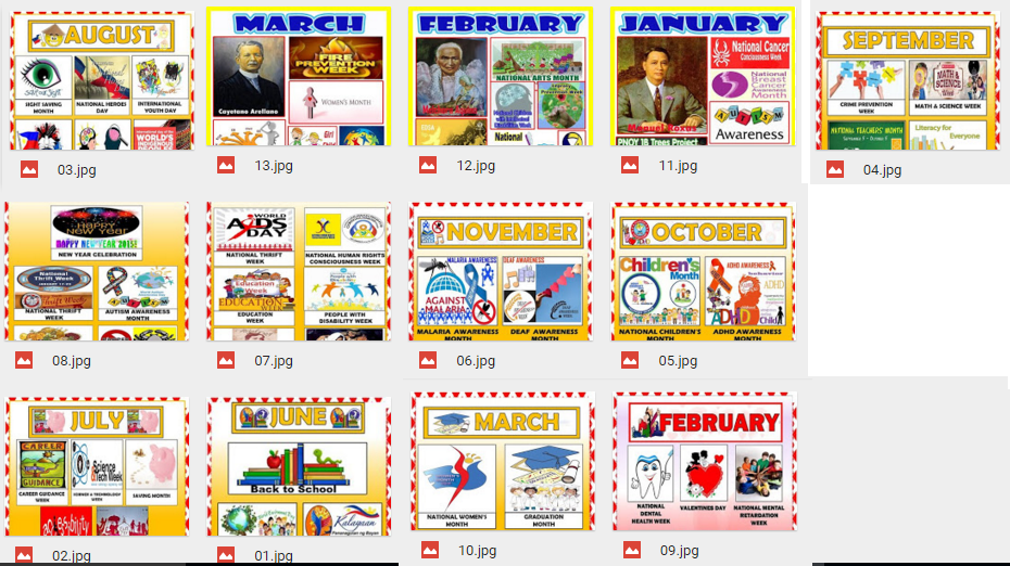 Deped Tambayan Ph Bulletins For Monthly Celebrations June March October Bulletin Boards March Bulletin Board September Bulletin Boards