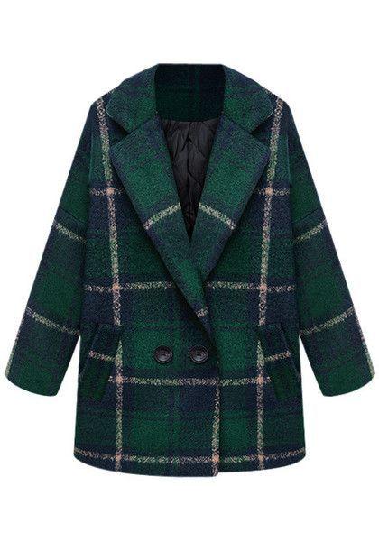 Classic Green Tartan Coat. A great choice for a winter coat!