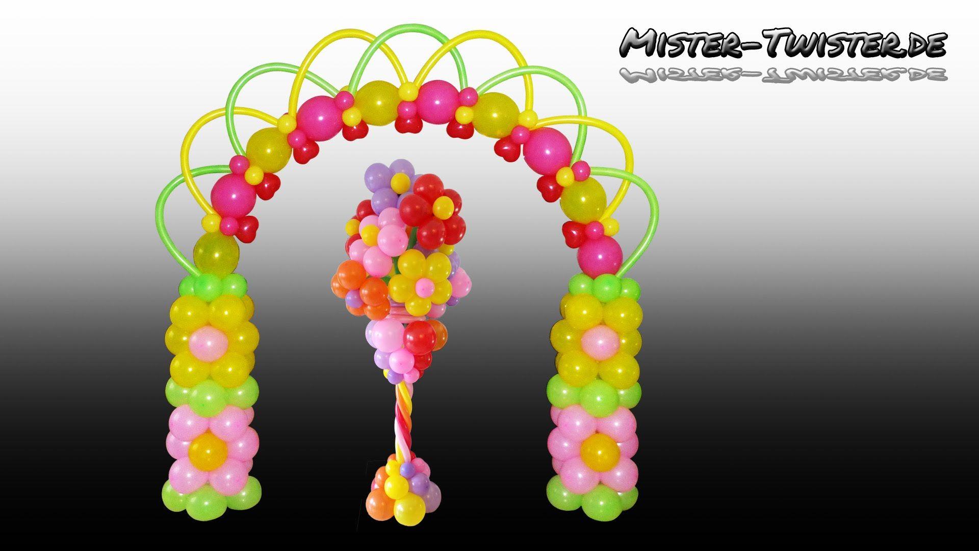 How to make a balloon flowers arch Anleitung um einen Blumenbogen