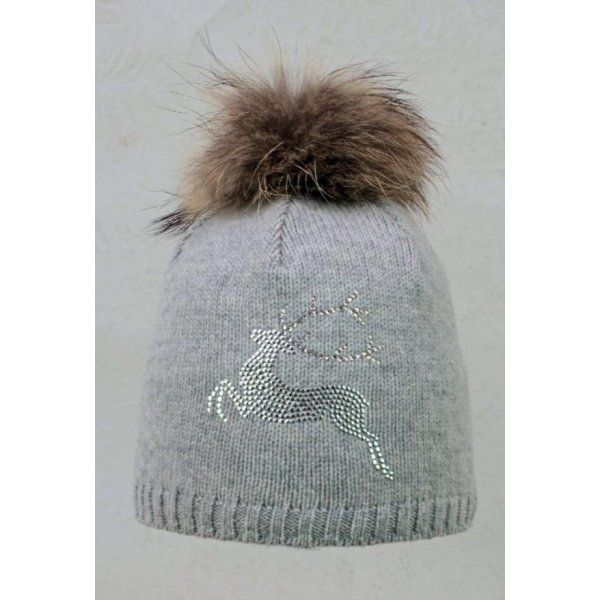 10ff98d0fe7 Steffner Steffner Bella-Fl-Pel-M Womens Ski Hat In Light Grey - Steffner  from White Stone UK