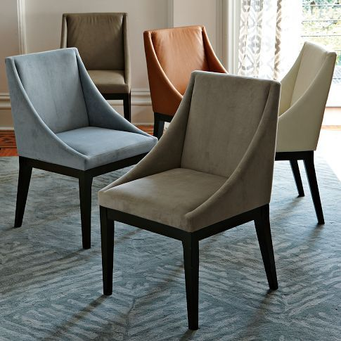 Curved Upholstered Chair West Elm Leather Chairs In The Tan Or