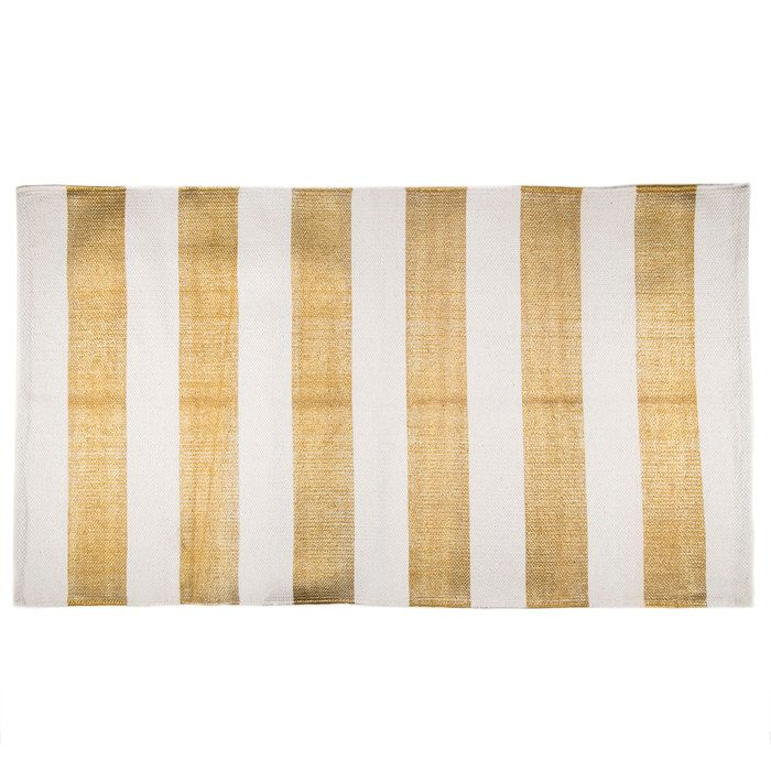 Hobby Lobby Large Area Rugs: Gold & Cream Striped Rug - 27