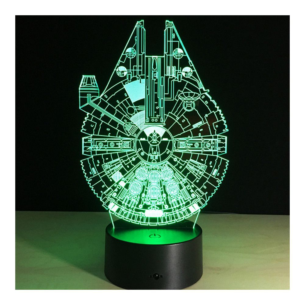 3d Star War Millennium Falcon Projector Night Bulb Usb Powered Led Lights Desk Lamp Mood Lamps Night Light Bedroom Lamps