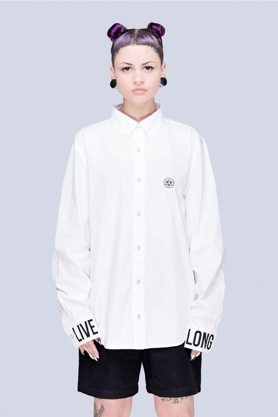 Live Long Buttoned Shirt (W) - Unisex - Store