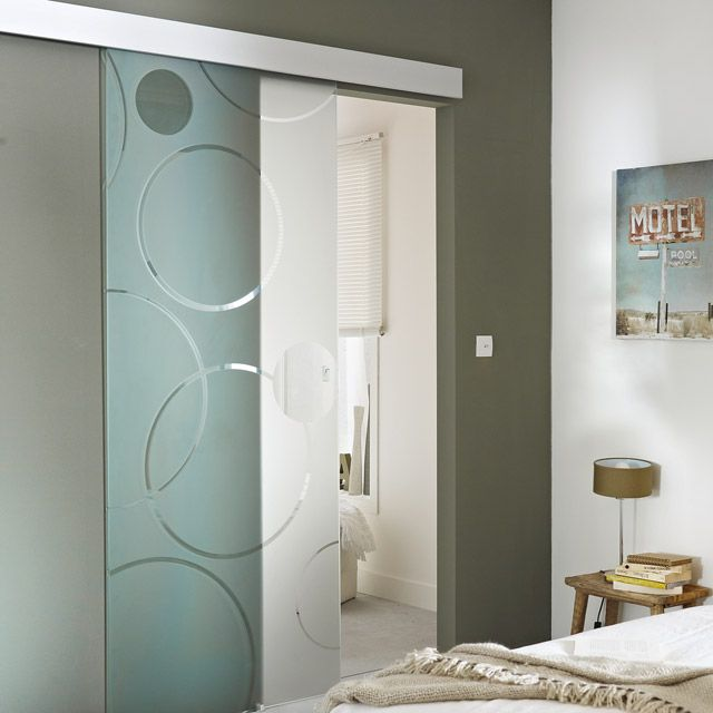 porte coulissante verre d poli geom circulus 83 cm porte pinterest porte placard. Black Bedroom Furniture Sets. Home Design Ideas
