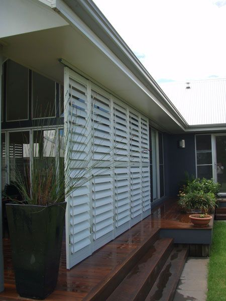 External Shutters For Patio. Victory Blinds.