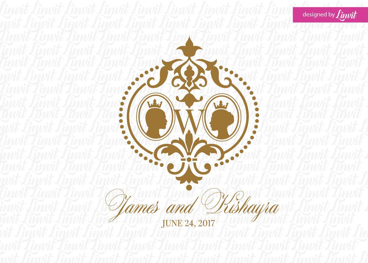 Royal Wedding Monogram Logo Crest Custom Signo Monograma De La Boda
