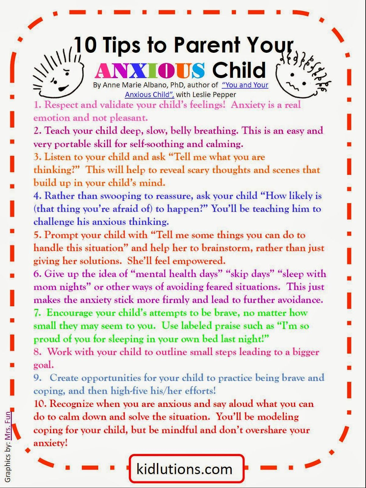 worksheet Ocd Worksheets spin doctor parenting 10 tips to parent your anxious child kid