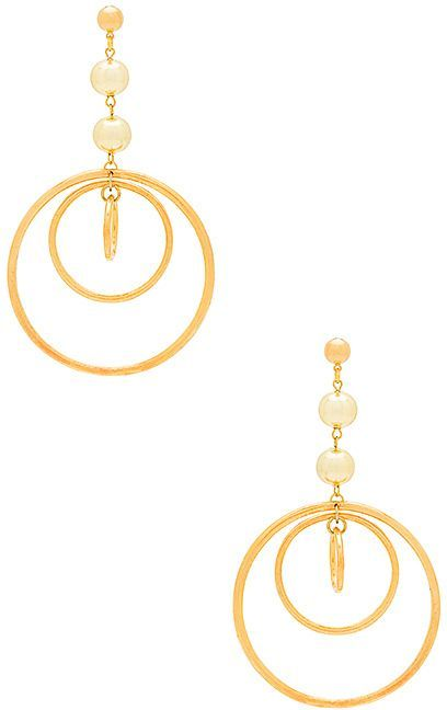 Vanessa Mooney Wild Belle Earrings in Metallic Gold ImuGOxg