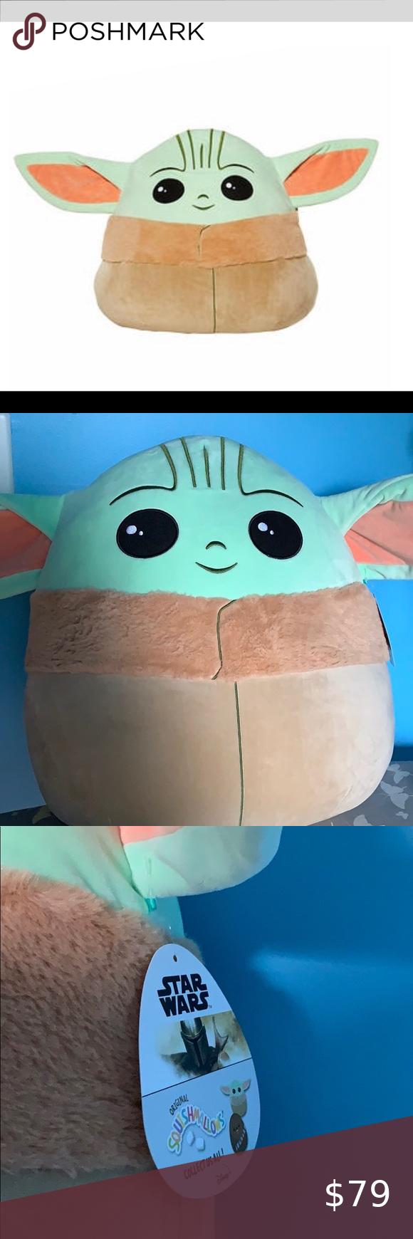 "Star Wars Mandalorian The Child XL Baby YODA 20"" Plush Squishmallow Plush NWT"