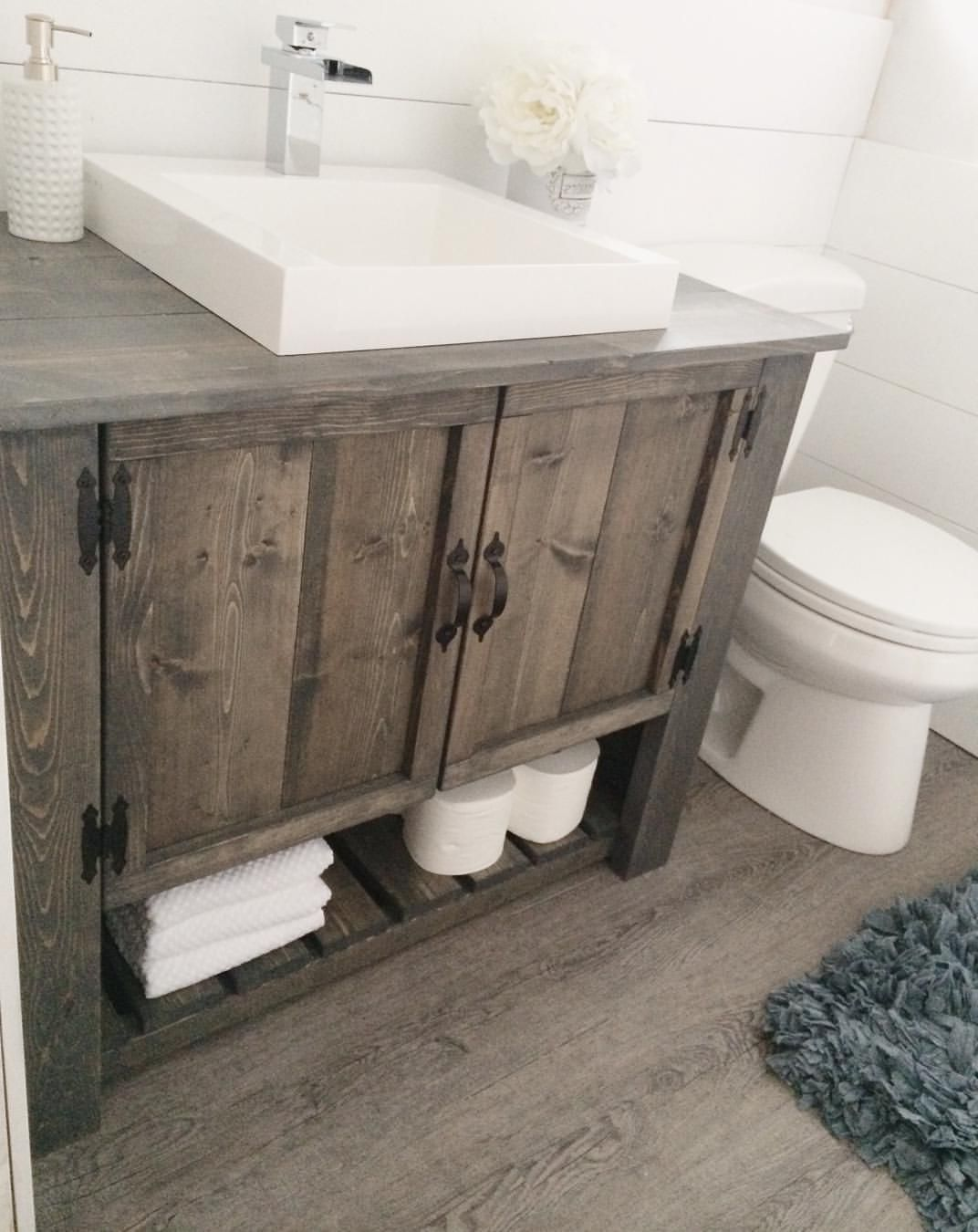 20 Gorgeous Bathroom Vanity Decor Inspiration You Should Try At Home Farmhouse Rustic Bathroom Vanity Remodel Bathroom Vanity Decor Rustic Bathroom Vanities