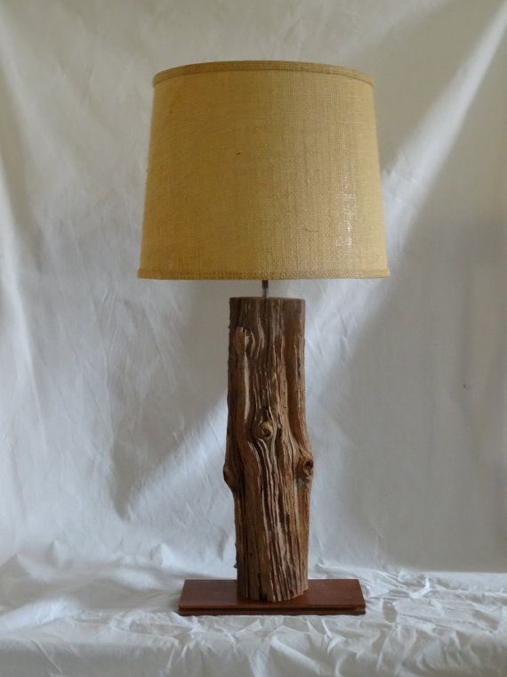 Heart Pine And Brazilian Walnut Table Lamp For Home Or Cabin Natural Branch Lamp Candlestick Lamps Table Lamp