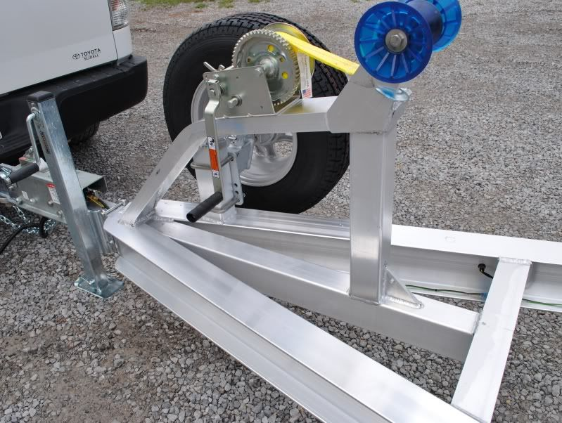 how to adjust boat trailer winch post