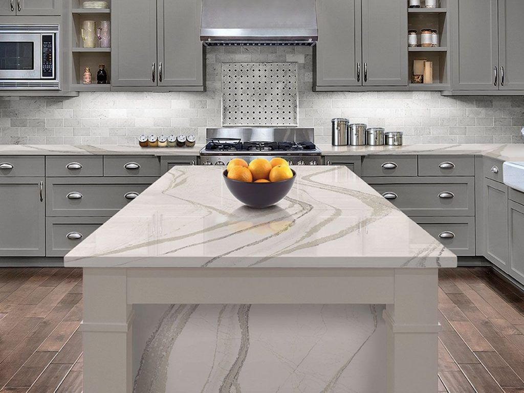 The Beautiful Calcatta Laza Qurtz Countertop The Perfect Countertop For Any Kitchen Kitchen Remodel Countertops Replacing Kitchen Countertops Kitchen Remodel
