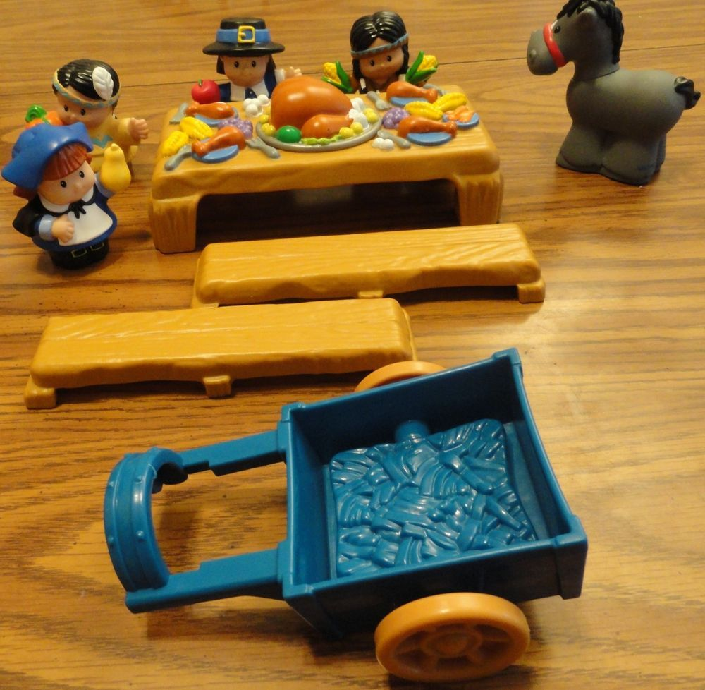 Fisher Price Little People Thanksgiving Celebration 10 pc Pilgrims ...
