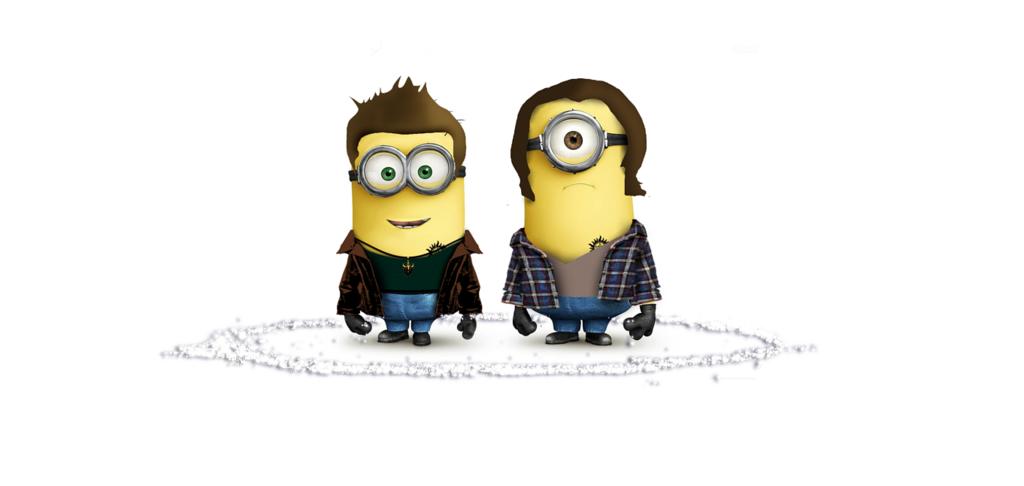 Supernatural Minion Wallpaper by ~BobbysIdjit on deviantART - Sam and Dean Winchester as Minions <3