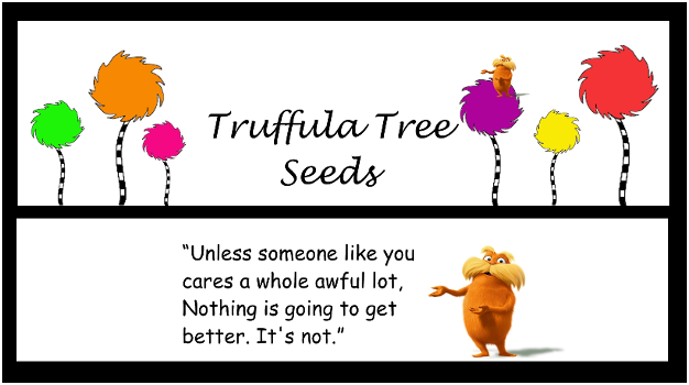 graphic relating to Truffula Seeds Printable titled Truffula Tree Seeds Printable Toppers SWCD Dr seuss