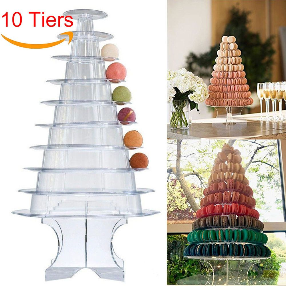 1 X Macaron Tower Stand Type Macaron Tower Stand This Elegant Macaron Tower Consists Of 10 Individual Clea Macaron Tower Birthday Decorations Cake Display